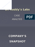 Dr.reddy Labs Case Analysis MMI