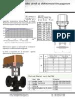 trokraki mesni elektromotorni ventil