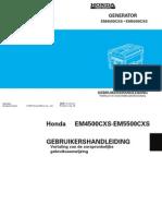 Handleiding en Instructieboekje Honda EM5500CXS Aggregaat - Nederlands