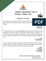 Lista 5 Titulometria -Gravimetria- Química Analítica Quantitativa - Anhanguera 4º Período.pdf