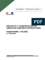 Proyecto y Construccion de Obras en Concreto Estructural FONDONORMA 1753_2006.pdf