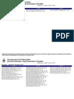UWI Exam Timetable Draft 1.1