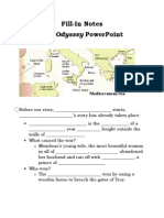 fill-in notes-the odyssey powerpoint