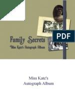 Miss Kate's Autograph Book