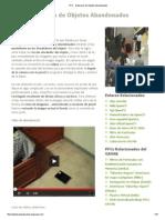 PFC - Detección de Objetos Abandonados
