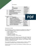 Resumen Del Presupuesto General