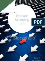 Cover schetsen boek 'Op naar marketing 2.0'
