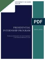 AUC Presidential Internship Program Brochure