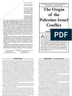 Origin of the Israel - Palestine conflict