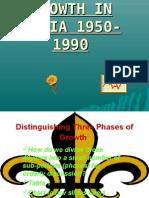 Economic Growth in India 1950-1990