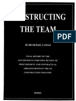 Constructing the Team the Latham Report