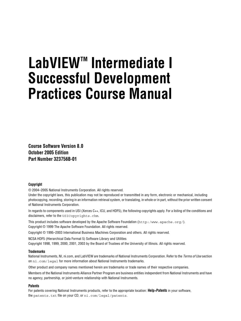 LabVIEW Intermediate I.pdf | Software Development Process ...