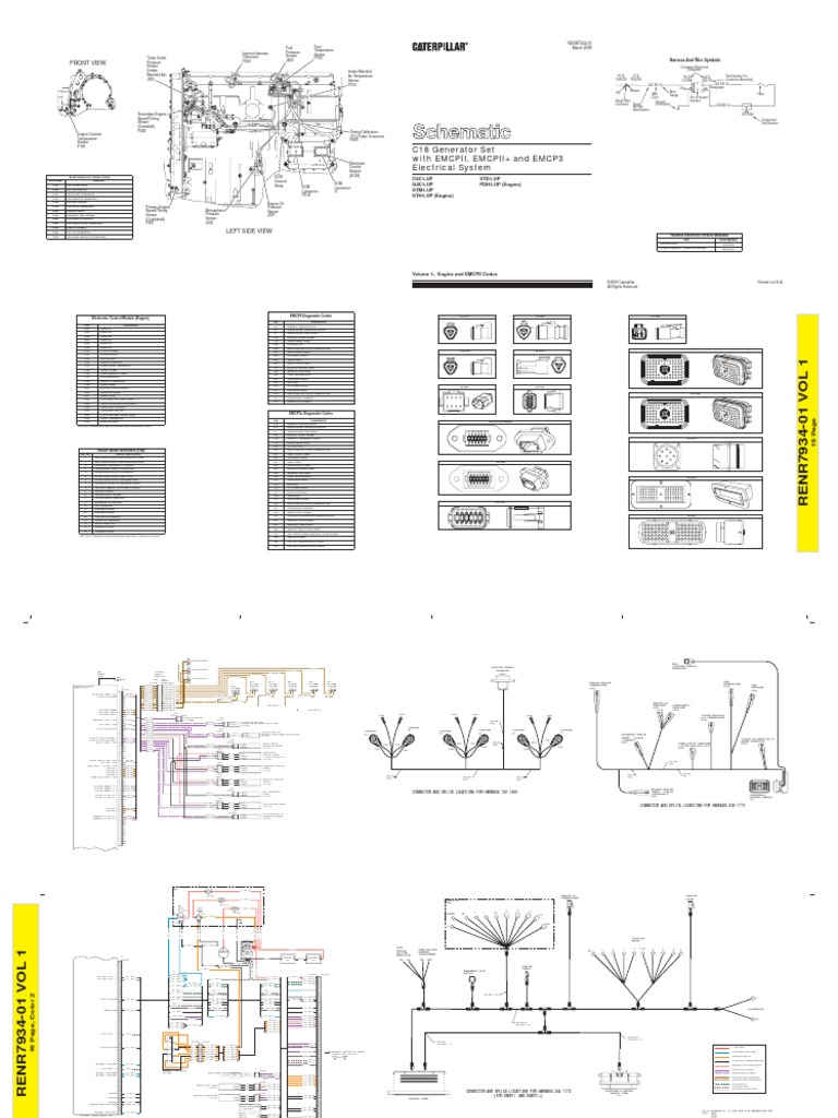 C18 Cat Engine Generator Wiring Diagram Schematic Diagrams 3116 Wire Example Electrical Gmc T7500
