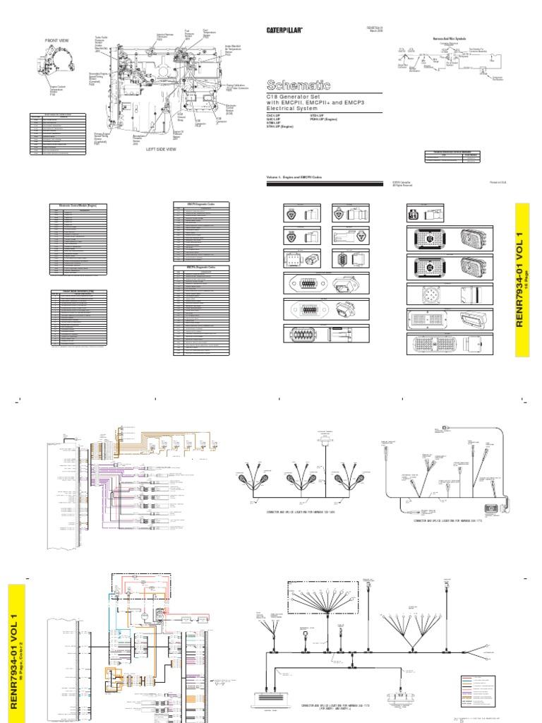 C18 Cat Engine Generator Wiring Diagram Schematic Diagrams Gmc T7500 Example Electrical