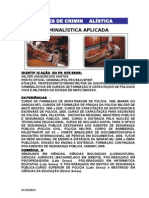 Manual sobre Noções de Criminalística
