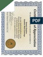 Certificate de Ngau