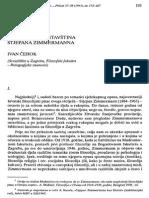 Ivan Cehok Filozofijska Ostavstina Stjepana Zimmermanna Prilozi 1993