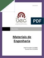Relatótio Materiais de Engenharia