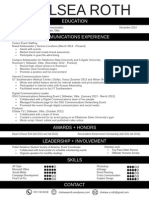 Chelsea Roth 2014 Resume Without GPA