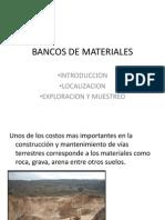 Bancos de Materiales