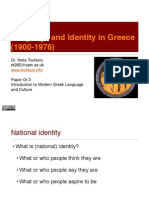 Language and Identity in Greece (1900-1976)
