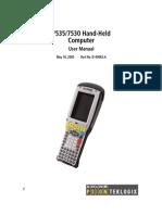 Hand-Held Computer - User Manual