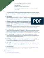 Cover Letter Outline