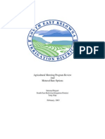 Agricultural Metering Program Review