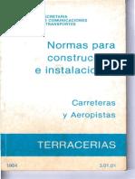 NORMAS PARA CONSTRUCCION E INSTALACIONES DE CARRETERAS Y AEROPISTAS LIBRO 3.01.01 Terracerias