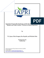 Agricultural Commodity Exchanges and the Development of Grain Markets and Trade in Africa