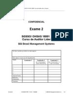 Exame II ohsas 18001
