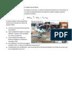 descomposición térmica  del clorato de potasio KClO3