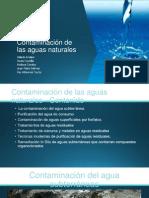 Contaminación de Las Aguas Naturales