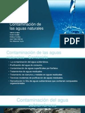 tecnicas de purificacion del agua pdf