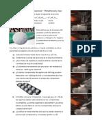 La Síntesis de La Aspirina Ocurre Según La Siguiente Reacción
