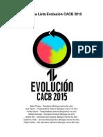 Programa Lista Evolución CACB 2015