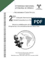 Programa Científico Del 2do Coloquio Psc