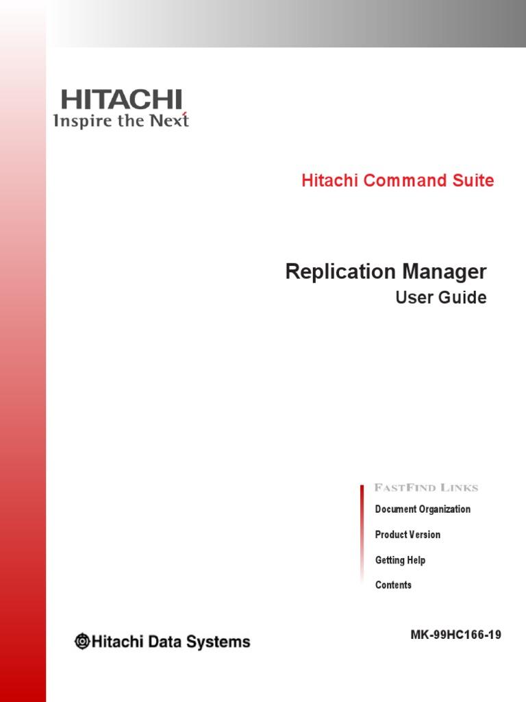 hitachi replication manager software user guide replication rh scribd com