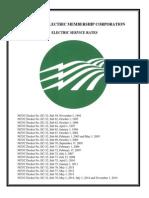 Piedmont Electric Service Rates