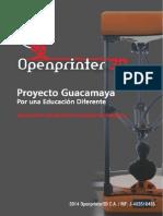 Openprinter máquina de impresión en 3D