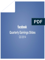 Facebook Q3 2014 Earnings