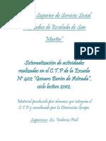 SISTEMATIZACION 2012 Centro de Practicas