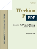 Container Yard Capacity Planning