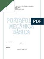 Caratula Portafolio Mecanica Basica