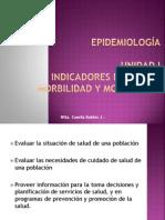 Epidemiología I UNIDAD-Indicadores de salud morbilidad y mortalidad.pptx