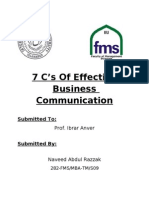 7 C's of Effective Business Communication