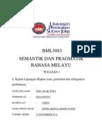 BML 3083 SEMANTIK & PRAGMATIK