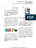 TRANSPORTE DE ARTIGOS PERIGOSOS - AIRJOB