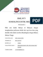 BML 3073 Sosiolinguistik Melayu (Tugasan 2)