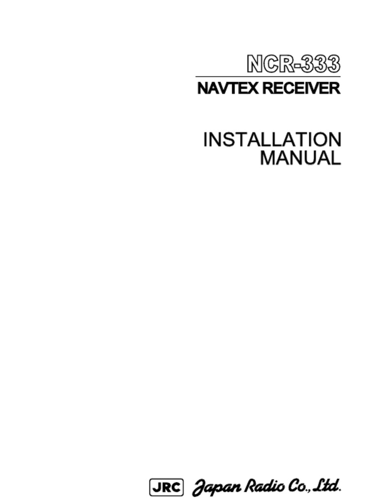Navtex Ncr333 Electrical Connector Power Supply